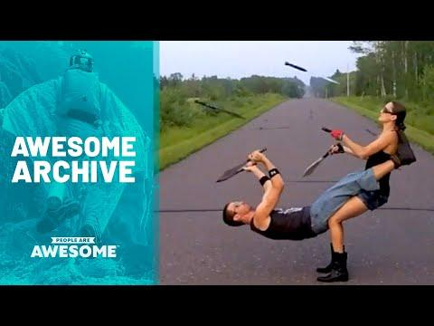 Mesmerizing Blade Tricks, Basketball Skills, Circus Arts & More
