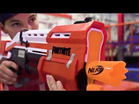 Nerf Fortnite Blasters Battle | Dude Perfect