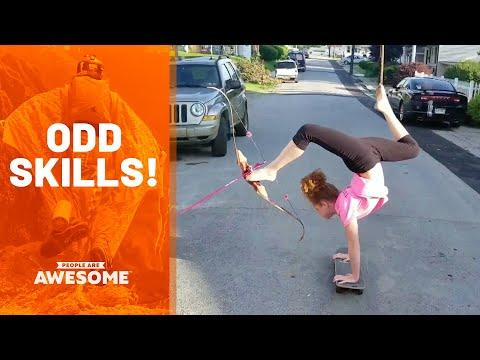 Weird Skills & Odd Talents Video | People Are Awesome