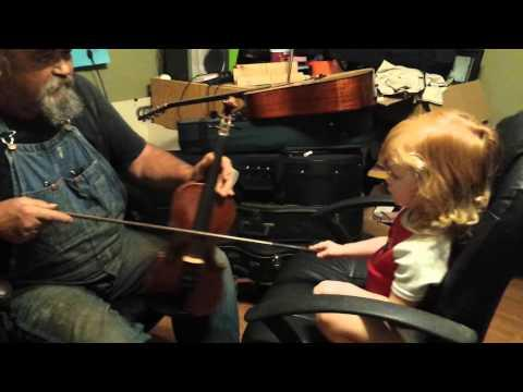 Grandpa Lardo And Grand Daughter Playing The Fiddle