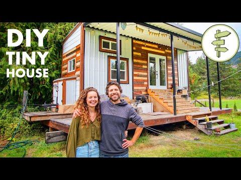 Living in a Compact 200 ft Tiny House with Stunning Exterior & Interior Design