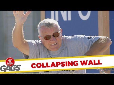 Collapsing Wall Prank