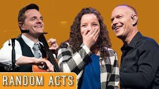 Girl Without A Hand Plays on Stage with The Piano Guys - Random Acts