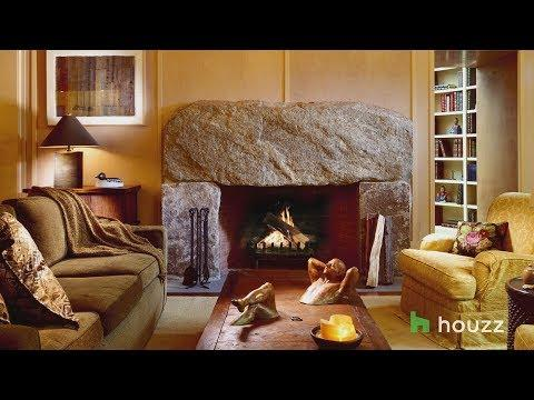 Crackling Fireplaces in Beautiful Rooms Make it Warm and Cozy