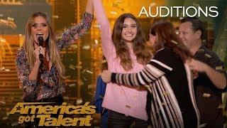 """Makayla Phillips: 15-Year-Old Receives Golden Buzzer For """"Warrior"""" - America's Got Talent 2018"""