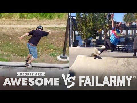 Skateboarding, Skiing & More  Video| People Are Awesome Vs. FailArmy!