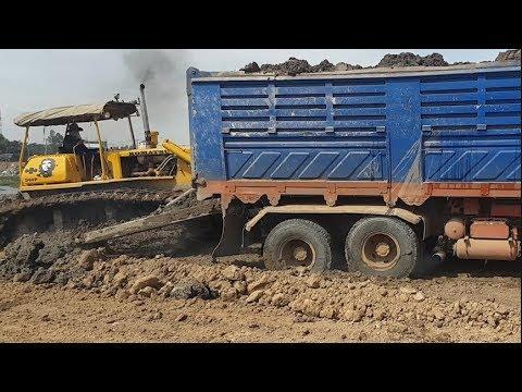 Big Truck Recovery Stuck | Big Dozer At Work