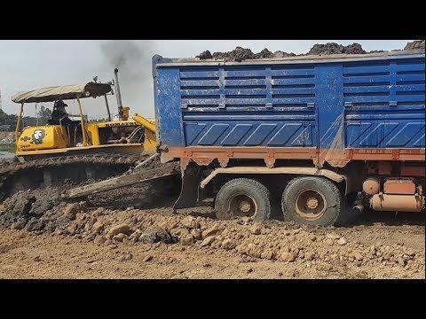 Big Truck Recovery Stuck | Big Dozer At Work
