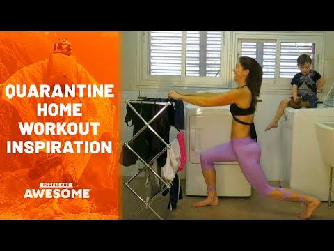 Social Distancing Home Workouts | People Are Awesome