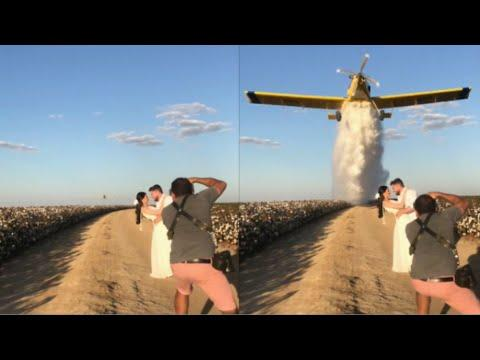 Plane Drops Water On Wedding Couple Video. Your Daily Dose Of Internet.