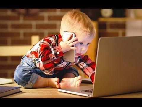 Baby talking phone -  CUte babies talking on the phone Funny Videos