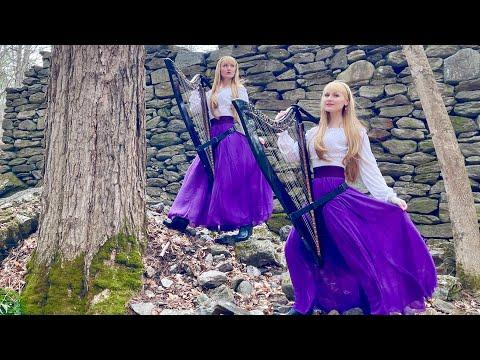 Dark Medieval Ballad - Down in Yon Forest - Harp Twins #Video