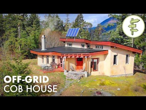 This Epic Cob House is Off-Grid & Earthquake Resistant Video - Sustainable Green Building Tour
