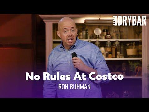 There Are No Rules At Costco Video. Comedian Ron Ruhman
