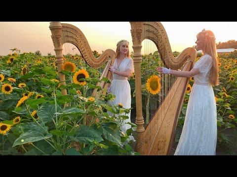 HARP REFLECTIONS VIDEO - Original Song - Harp Twins, Camille and Kennerly