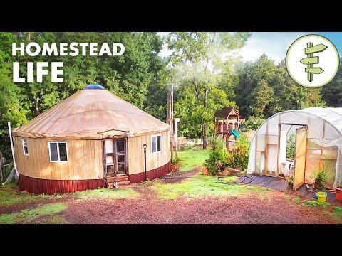 Homesteading & Living in a Tiny Yurt for 6 Years Video - Family Shares Homestead Experience