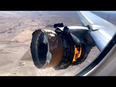 Plane Engine Explodes Mid-Flight Video
