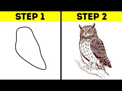 30 SIMPLE DRAWING TIPS AND TRICKS FOR BEGINNERS || Drawing And Painting Life Hacks And Tutorials