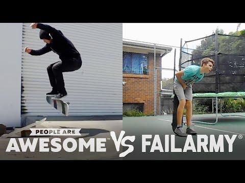 Wins Vs. Fails Video! High Kicks, Sand Dune Backflips, Jumprope & More