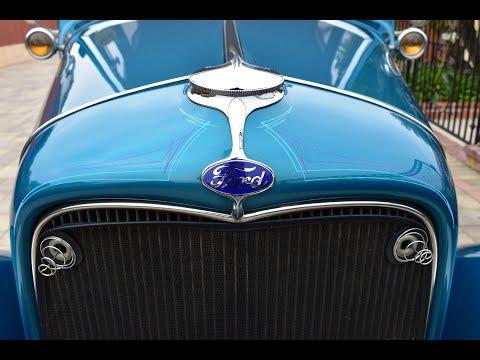 1932 Ford Tudor Video - All Steel Resto Rod 350 V8 200R4 AOD IFS/IRS Loaded