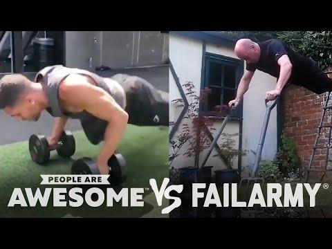 People Are Awesome vs. FailArmy | Weightlifting, Pool Trickshots & More!