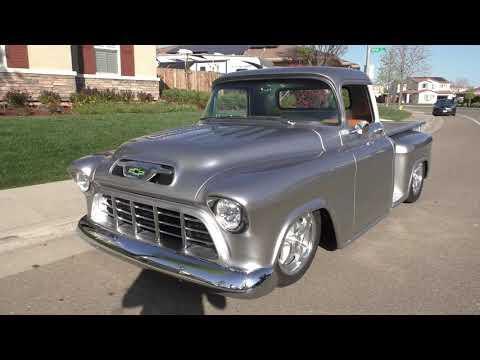 1955 Chevy Pick-Up Hot-Rod Custom 350 4bbl V8 700R4 Ford 9 Video
