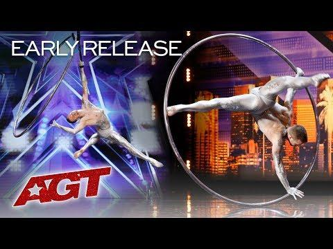 Hoop Aerialist Matthew Richardson SHOCKS You With His Talent - America's Got Talent 2019
