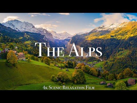 The Alps 4K - Scenic Relaxation Film With Calming Music #Video