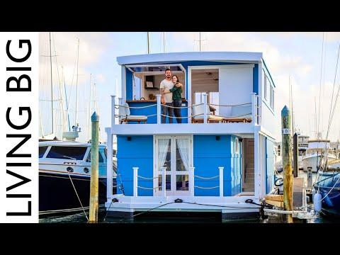 A Dream Life On The Water In An Amazing House Boat. Video