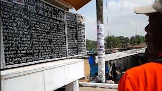 Delivering the news in Liberia, free of charge