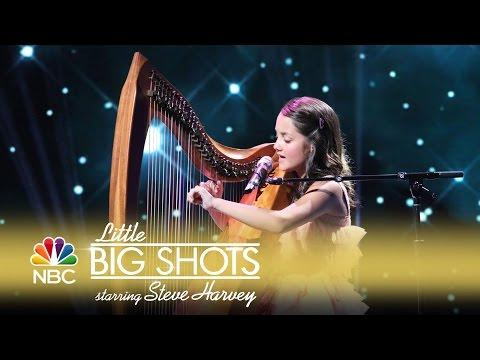 Little Big Shots - Amazing Young Harpist and Singer (Episode Highlight)