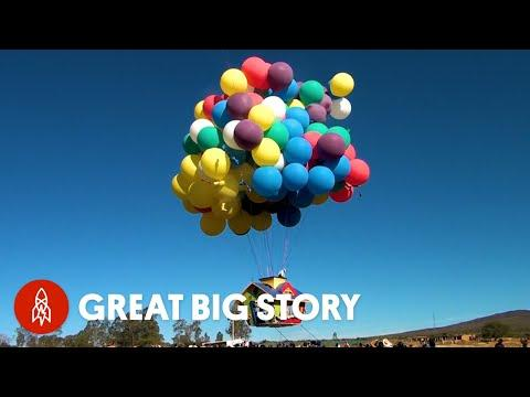 How One Man Flies Hundreds of Miles Using Balloons Video