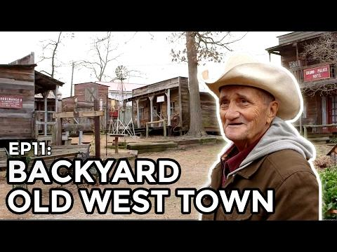 Old West Town Built in Backyard #Video