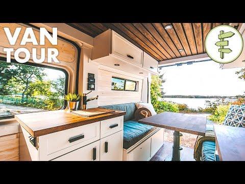 Stunning Modern Camper Van Conversion | VAN LIFE TOUR