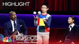 Little Big Shots - Rubik's Cube Kid Will Have Your Head Spinning! (Episode Highlight)