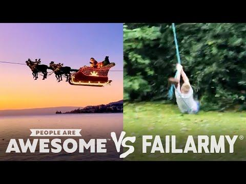 Downhill Skating, Zipline, & Diving Wins VS. Fails Video | People Are Awesome VS. FailArmy