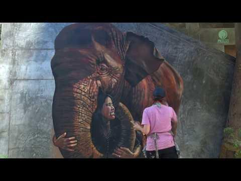 Amazing Elephant Mural Painting : The Human-Animal Connection