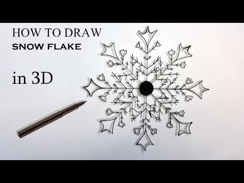 How To Draw SNOW FLAKE In 3D / Tutorial Easy