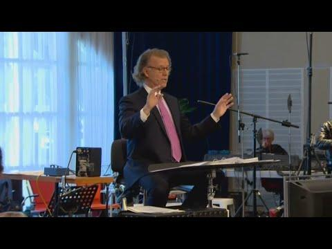 André Rieu Performing Azzurro At His Studio In Maastricht