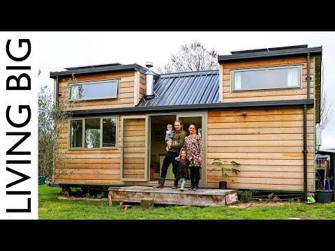 Dream DIY Tiny House With Amazing Kid-Safe Loft Video