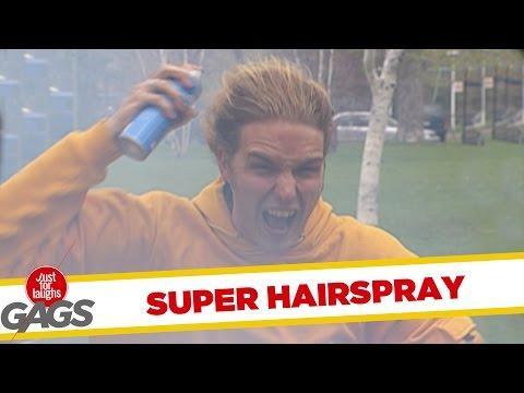 Hilarious - Super Hairspray Prank