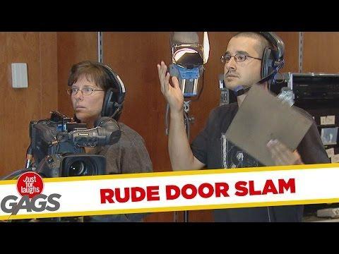 Rude Door Slammers Prank