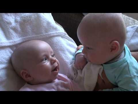 Newborn Twins Merle And Stijn Having A Big Conversation
