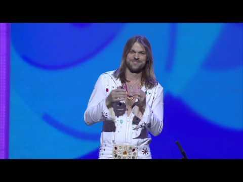 Magician Performs Funny Magic Act With Banana
