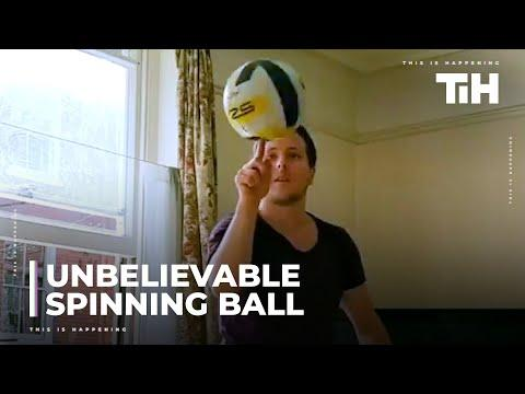 Guy Shows Amazing Tricks While Spinning Ball Video