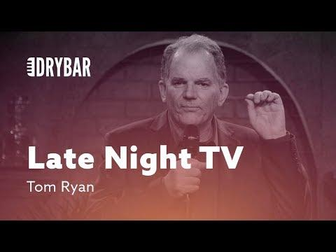 Late Night Television. Comedian Tom Ryan