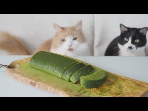 Jiggly Mousse Cake (Japanese Green Tea) #Video