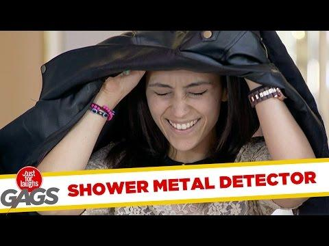 Metal Detector Turns Into Shower Prank!