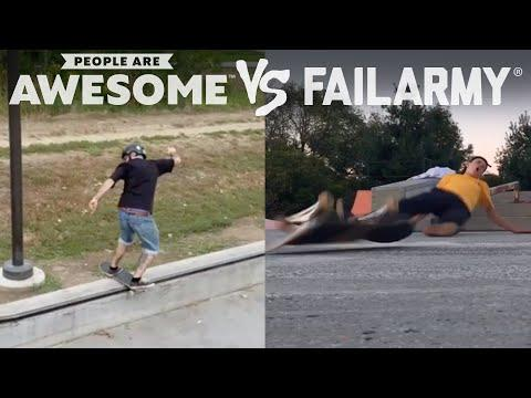 Wins Vs. Fails Video | People Are Awesome Vs. FailArmy