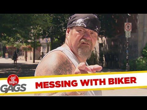 Breaking Eggs On Bikers !
